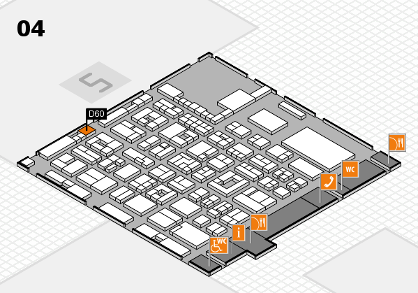 REHACARE 2017 hall map (Hall 4): stand D60
