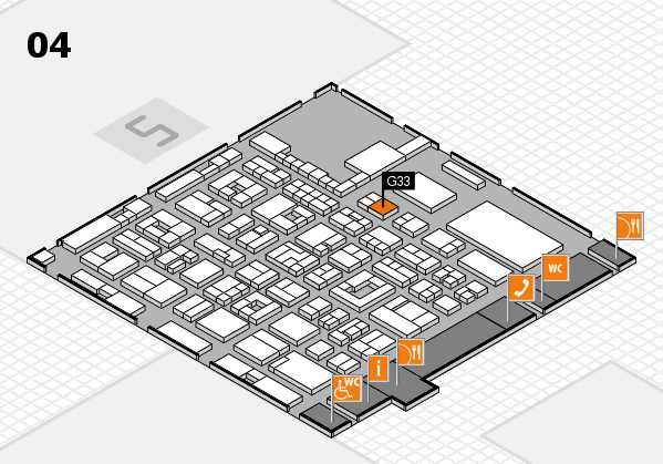 REHACARE 2017 hall map (Hall 4): stand G33