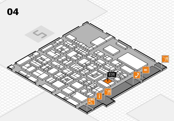 REHACARE 2017 hall map (Hall 4): stand E06