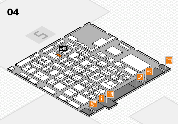 REHACARE 2017 hall map (Hall 4): stand E48
