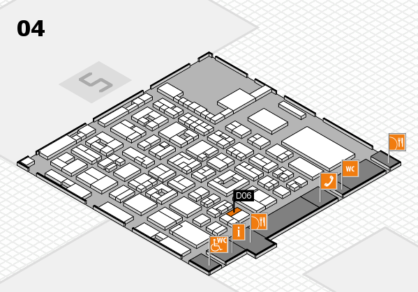 REHACARE 2017 hall map (Hall 4): stand D06