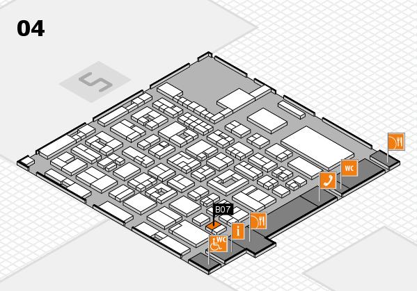 REHACARE 2017 hall map (Hall 4): stand B07
