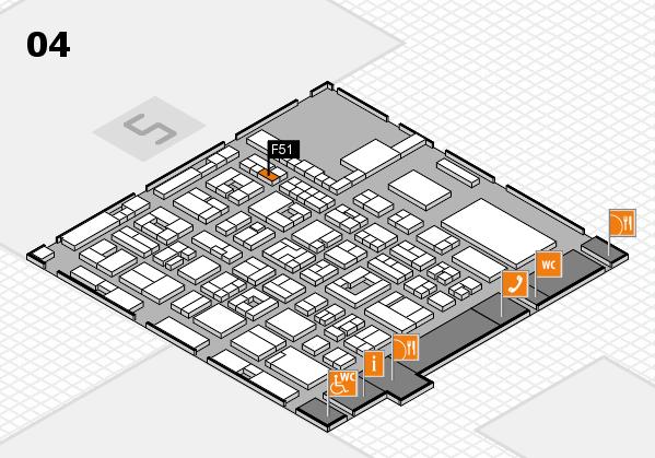 REHACARE 2017 hall map (Hall 4): stand F51