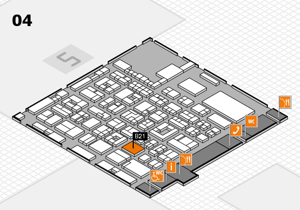 REHACARE 2017 hall map (Hall 4): stand B21