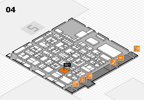 REHACARE 2017 Hallenplan (Halle 4): Stand B21