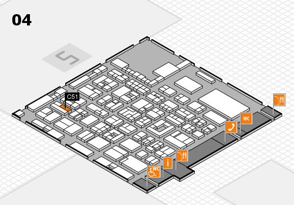 REHACARE 2017 hall map (Hall 4): stand C51