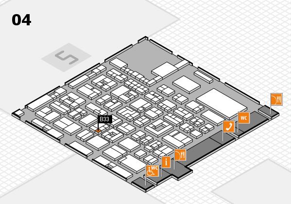 REHACARE 2017 hall map (Hall 4): stand B33