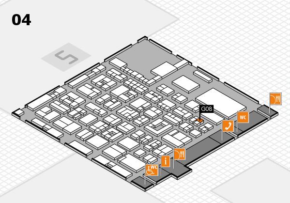 REHACARE 2017 hall map (Hall 4): stand G08