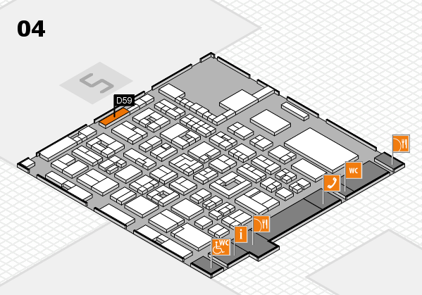 REHACARE 2017 hall map (Hall 4): stand D59
