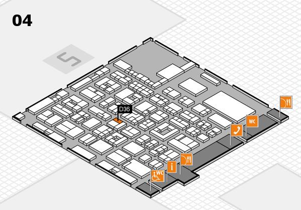 REHACARE 2017 Hallenplan (Halle 4): Stand D36