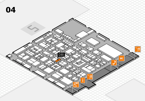 REHACARE 2017 hall map (Hall 4): stand D30