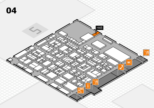 REHACARE 2017 hall map (Hall 4): stand H45