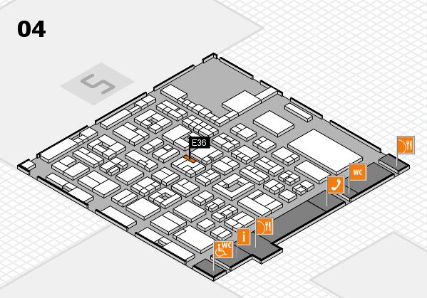 REHACARE 2017 Hallenplan (Halle 4): Stand E36
