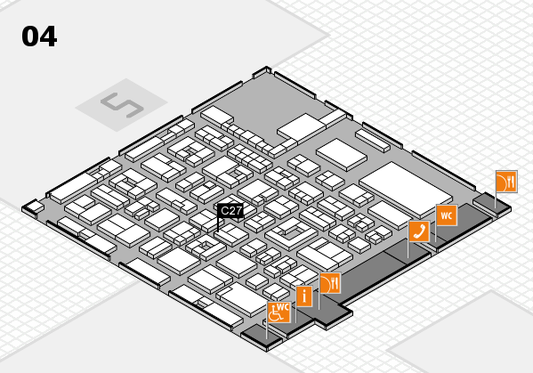 REHACARE 2017 hall map (Hall 4): stand C27
