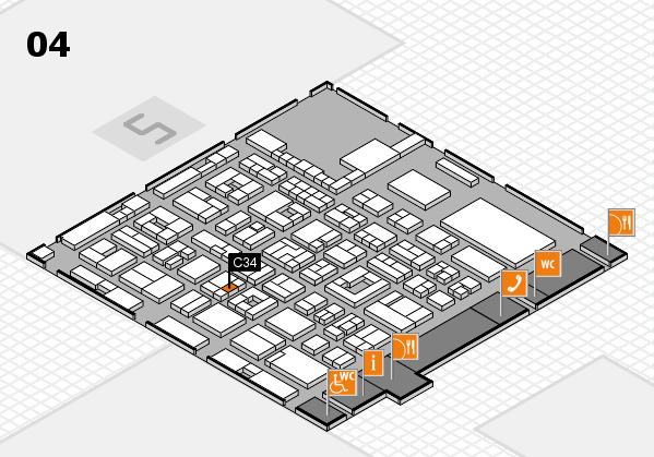 REHACARE 2017 Hallenplan (Halle 4): Stand C34