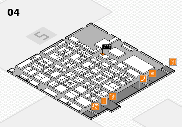 REHACARE 2017 hall map (Hall 4): stand G37