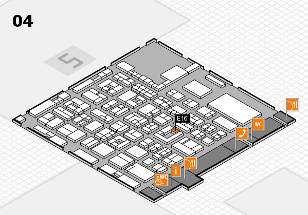REHACARE 2017 hall map (Hall 4): stand E16