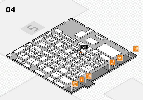 REHACARE 2017 hall map (Hall 4): stand F27