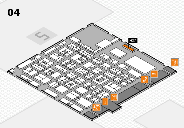 REHACARE 2017 hall map (Hall 4): stand H37