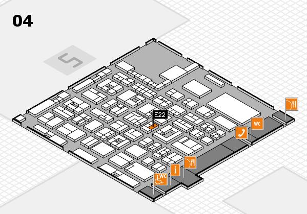 REHACARE 2017 hall map (Hall 4): stand E22