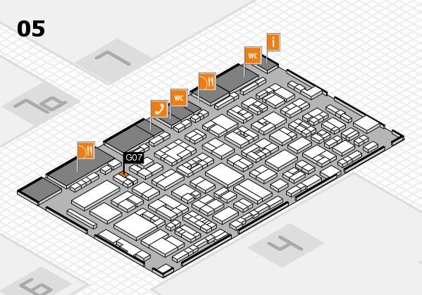 REHACARE 2017 hall map (Hall 5): stand G07
