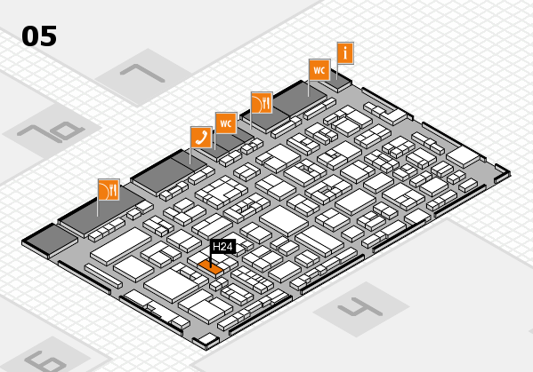 REHACARE 2017 hall map (Hall 5): stand H24