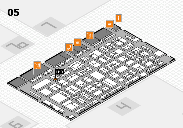 REHACARE 2017 hall map (Hall 5): stand H10