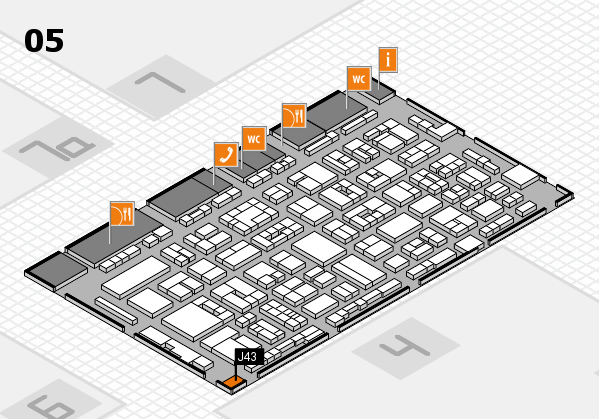 REHACARE 2017 hall map (Hall 5): stand J43