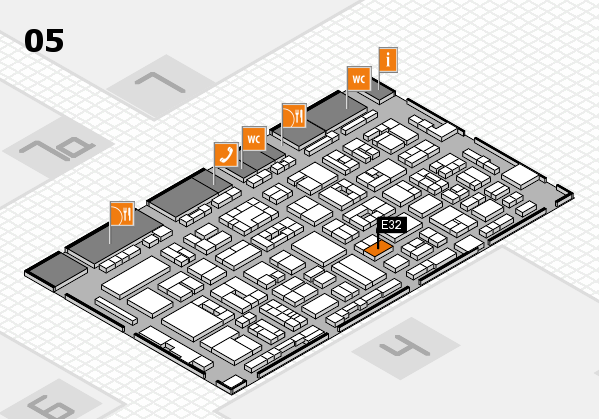 REHACARE 2017 hall map (Hall 5): stand E32
