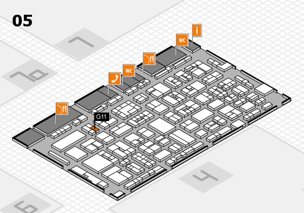 REHACARE 2017 hall map (Hall 5): stand G11