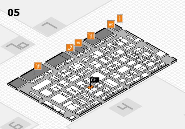 REHACARE 2017 hall map (Hall 5): stand F31