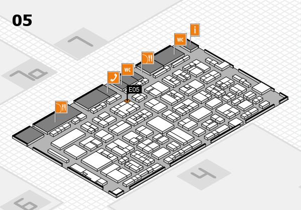 REHACARE 2017 hall map (Hall 5): stand E05