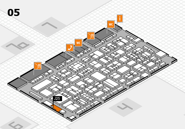 REHACARE 2017 hall map (Hall 5): stand J25