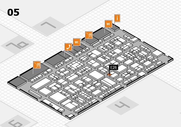 REHACARE 2017 hall map (Hall 5): stand E28
