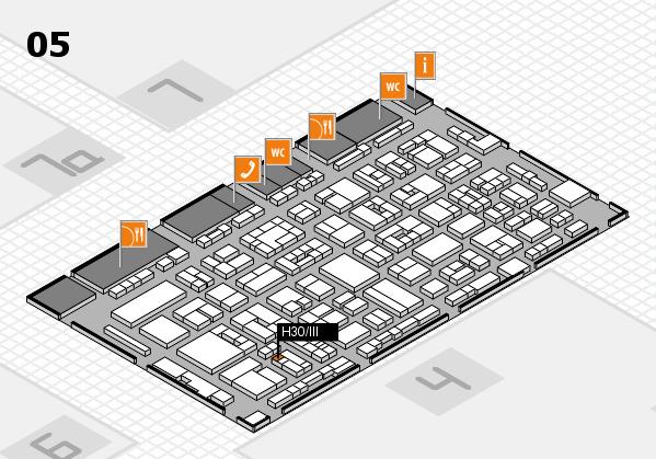 REHACARE 2017 hall map (Hall 5): stand H30.III