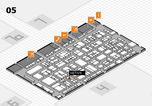 REHACARE 2017 hall map (Hall 5): stand H27.VIII
