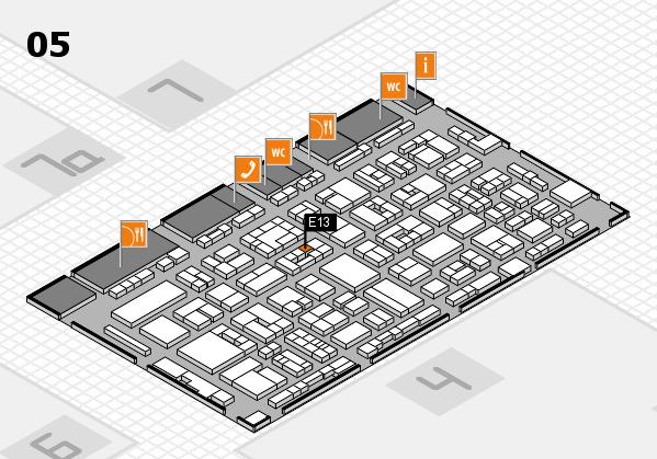 REHACARE 2017 hall map (Hall 5): stand E13