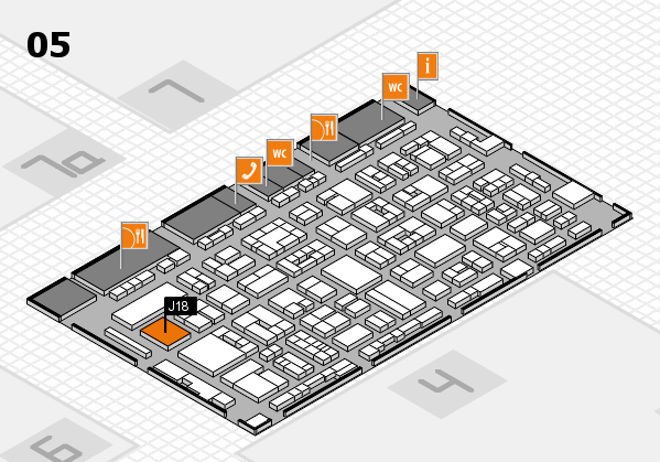 REHACARE 2017 hall map (Hall 5): stand J18