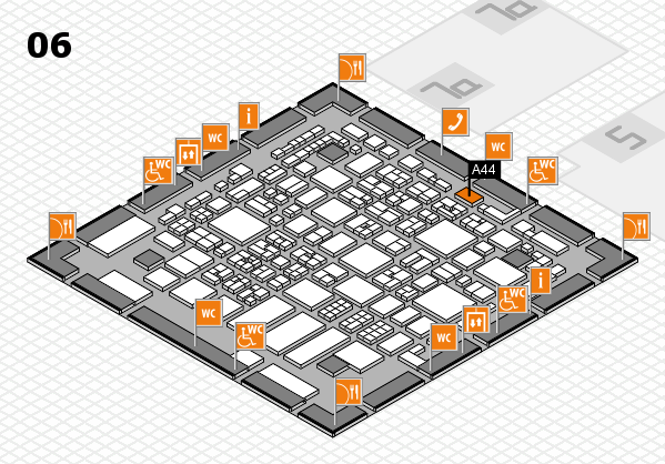 REHACARE 2017 hall map (Hall 6): stand A44