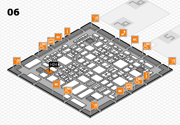 REHACARE 2017 hall map (Hall 6): stand H24