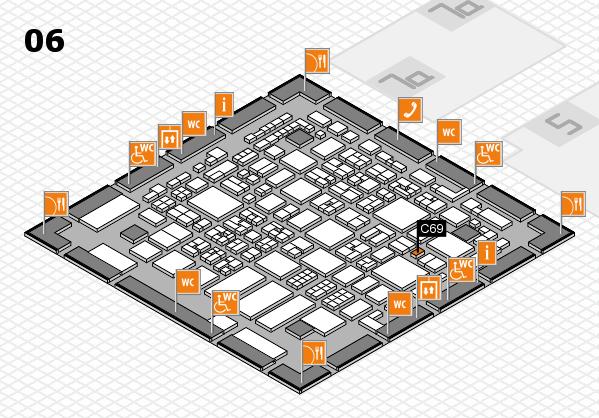 REHACARE 2017 hall map (Hall 6): stand C69