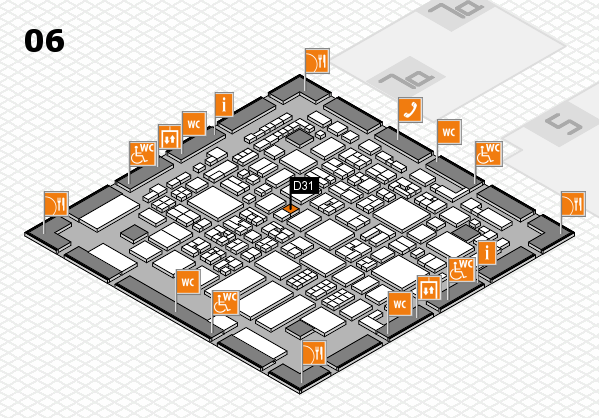 REHACARE 2017 hall map (Hall 6): stand D31