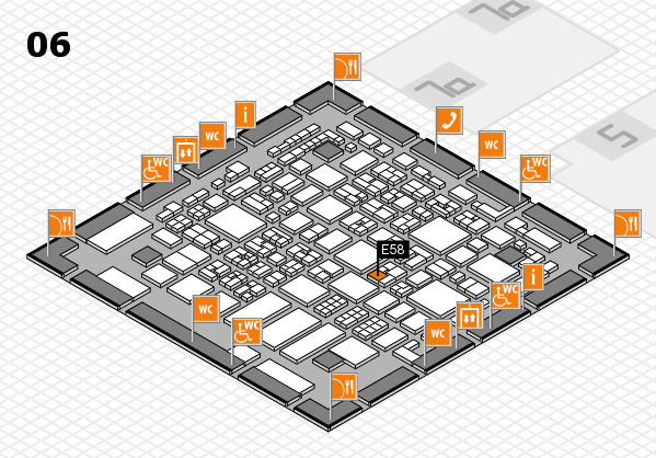 REHACARE 2017 hall map (Hall 6): stand E58
