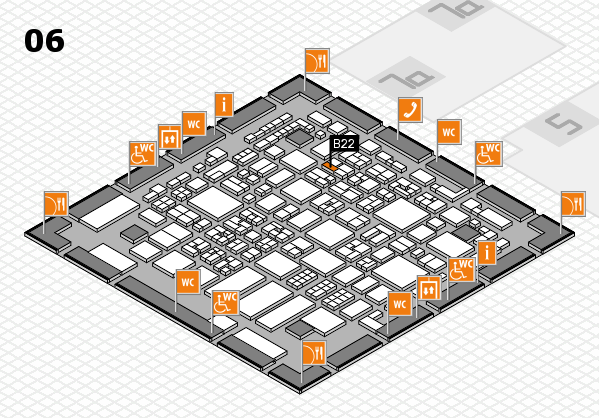 REHACARE 2017 hall map (Hall 6): stand B22