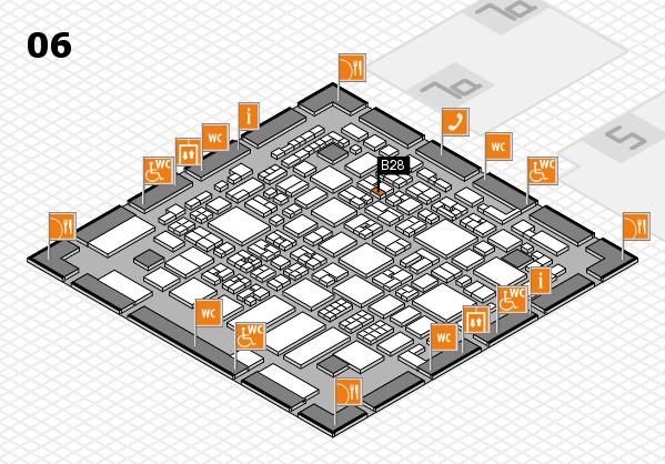 REHACARE 2017 hall map (Hall 6): stand B28