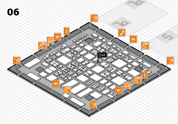REHACARE 2017 hall map (Hall 6): stand D34