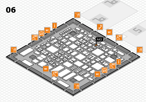 REHACARE 2017 hall map (Hall 6): stand A43
