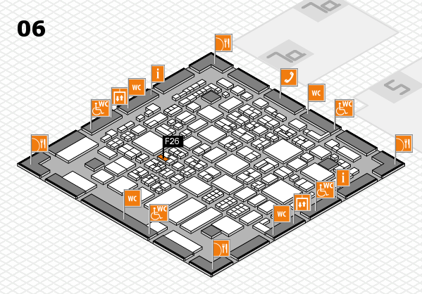REHACARE 2017 hall map (Hall 6): stand F26