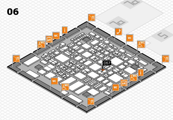 REHACARE 2017 hall map (Hall 6): stand D57