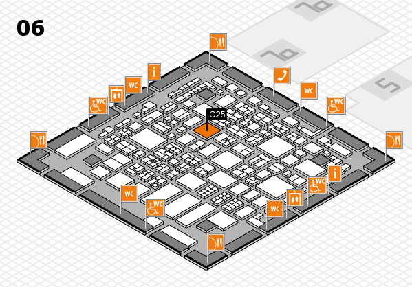 REHACARE 2017 hall map (Hall 6): stand C25